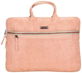 Esbeda Pink PU Laptop Sleeve