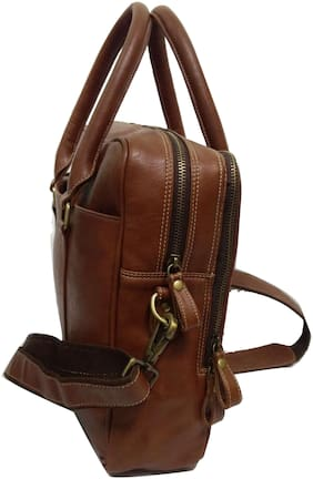 Essart Faux Leather Crunchy finish 2 tone Laptop Bag/Laptop Backpack for 15.60inch laptops. - AA-608-D-Tan