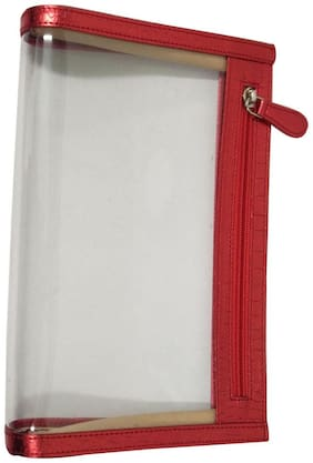 Essart PU Leather Travel Cosmetic Pouch-Red