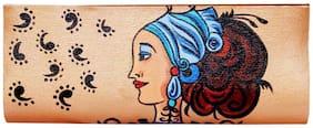Luxury Living Women Solid Canvas - Clutch Beige