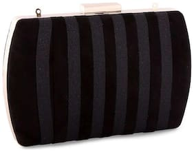 Ceriz Women Solid Synthetic - Clutch Black