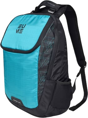 EUME Green Nylon Laptop backpack