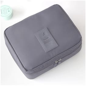 EVERBUY 1PCS Travel Organizer Bag Case Multipurpose Pouch for Cosmetic Makeup Toiletry Bag(GREY)