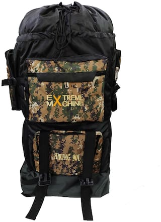 Exterme Machine 90 L Printed Rucksack/Hiking/Trekking Backpack Bag with Shoe Compartment