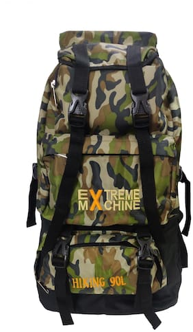 Extreme Machine Army Print Travel Backpack For Unisex