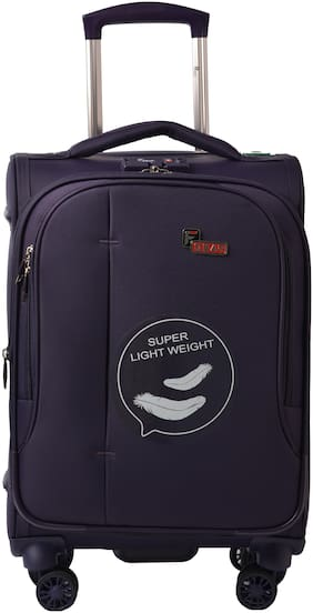 F Gear Large Size Hard Luggage Bag ( Purple , 4 Wheels )