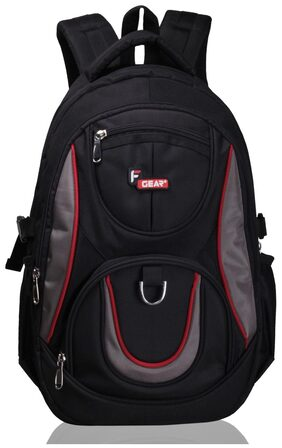 F Gear Axe Black  Polyester Backpack (Without Laptop Compartment)