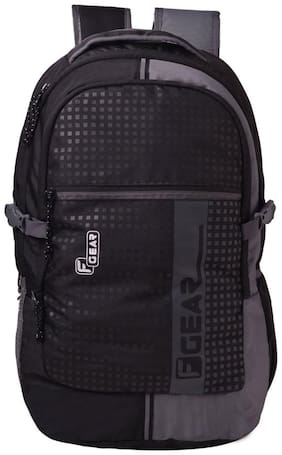 F Gear Black Waterproof Polyester Backpack