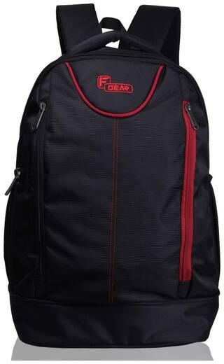 F Gear Black Waterproof Polyester Backpack