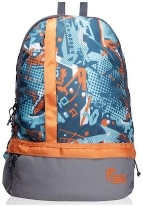 F Gear Orange Waterproof Polyester Backpack