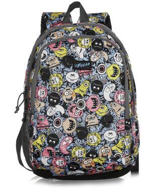 F Gear Castle Smiley Blue Black Waterproof Laptop Backpack