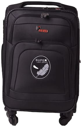 F Gear Medium Size Soft Luggage Bag ( Black , 4 Wheels )