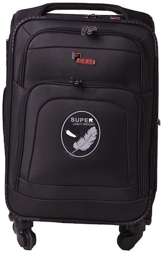 F Gear Medium Size Soft Luggage Bag ( Black , 4 Wheels )
