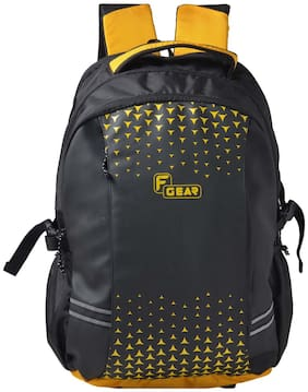 F Gear Yellow Waterproof Polyester Backpack