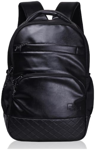 F Gear Black Waterproof Pu Backpack