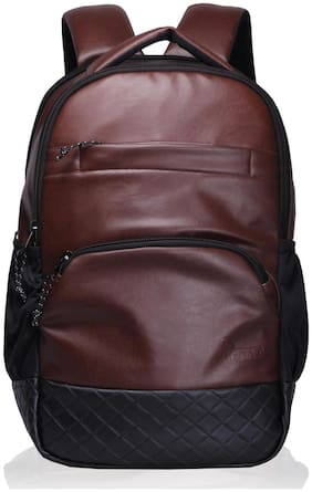 F Gear Brown Waterproof Pu Backpack