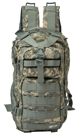 F Gear Military Tactical Polyester 29 Ltrs Marpat ACV Digital Camo Casual Backpack (2854)