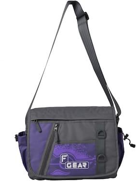 F Gear Purple Polyester Sling bag