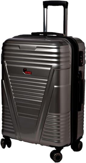 F Gear Cabin Size Hard Luggage Bag - Silver , 4 Wheels