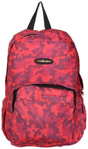 Fabseasons Red Polyester Backpack