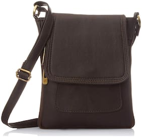 FANDDC Women Solid Faux Leather - Sling Bag Brown