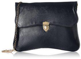 Fantosy Women Solid Pu - Sling Bag Black