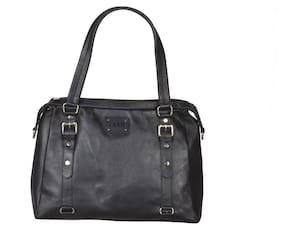 b47e574cbe Faro 100% Genuine Leather Hand Bag For Women   Girls (Black)