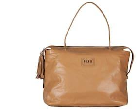 c0f8d1e057 Faro for Chokore Women s Biscotti Brown Genuine Leather Solid Bobbi Handbag
