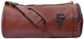 Fashion 7 Tan Leatherite Gym Bag