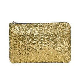 Fashion Women Clutch Bag Dazzling Sequins Glitter Sparkling Handbag Evening Party Bag Golden