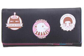 Fashion Women PU Leather Long Wallet Floral Cute Bear Card Holder Clutch