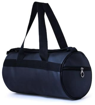 MR R KING AND QUEEN Faux Leather Men Gym Bag - Black 47e9d4df0422f