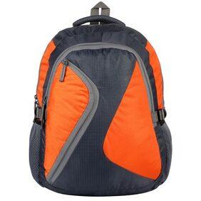Favria Bags N Packs Series 25 L Laptop Backpack  (Orange, Grey)