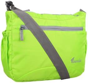 Favria Green Polyester Messenger bag
