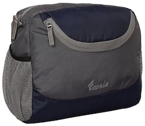 Favria Polyester Men Messenger Bag - Grey