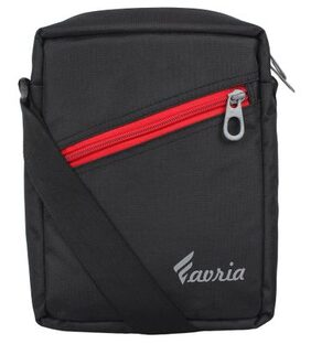 Favria Men & Women Passport Sling Bag-Black Red
