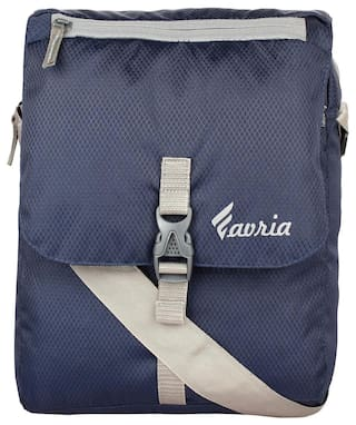 Favria Polyester Men Messenger Bag - Blue