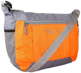 Favria Men & Women  Gorgeous Messenger & Sling Bag- Orange & Grey