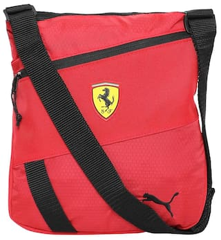 e9816fd78927 Buy Puma Women Solid Nylon - Sling Bag Red Online at Low Prices in ...