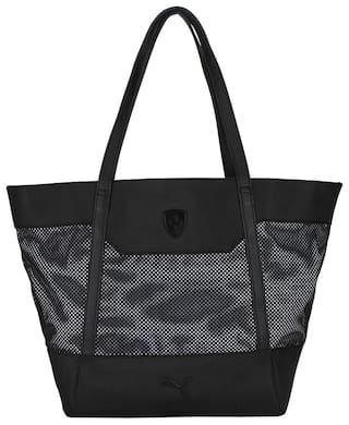 Buy Puma Women Solid Polyester - Tote Bag Black Online at Low Prices ... 25a65f6f55235