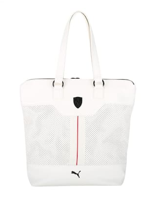Buy Puma Women Pu Tote Bag - White Online at Low Prices in India ... b3dcf4827d
