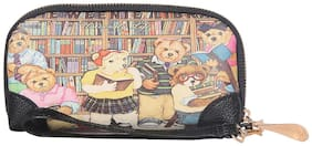 Fiona Trends Multicolor Poo Family Theme Travel bags For Women