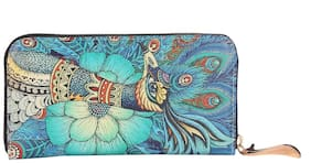 Fiona Trends Multicolor Peacock Design Travel bags For Women