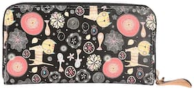 Fiona Trends Multicolor Black Cat Design Travel bags For Women