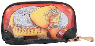 Fiona Trends Multicolor Brown Elephant Design Travel bags For Women