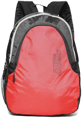 Flying Machine Red Polyester Backpack