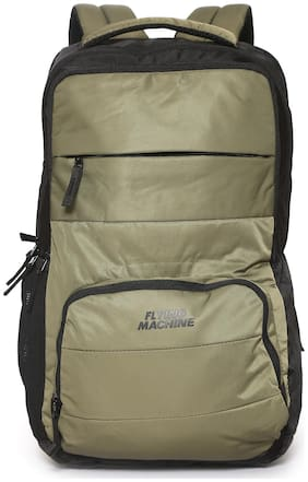 Flying Machine Green Polyester Backpack