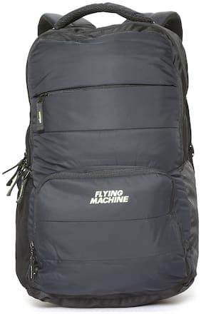 Flying Machine Black Polyester Backpack