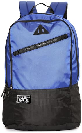 Flying Machine Blue Polyester Backpack