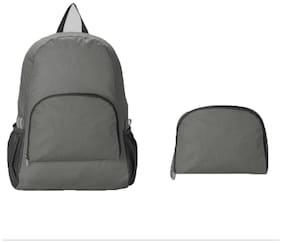 Hitplay Grey Waterproof Nylon Backpack